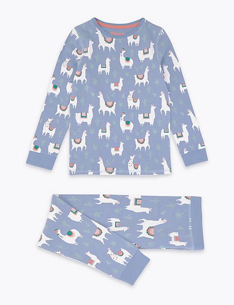 Llama Print Pyjama Set (3-16 Years)