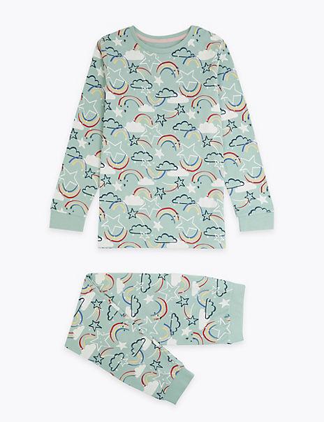 Rainbow Relaxed Fit Pyjama Set (7-16 Years)