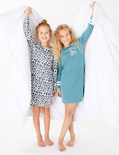 2 Pack Snooze Club Nightdresses (3-16 Years)
