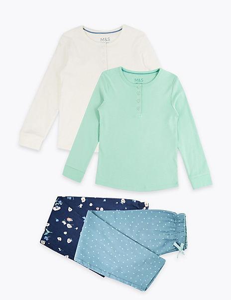 2 Pack Floral Print Pyjama Sets (3-16 Years)