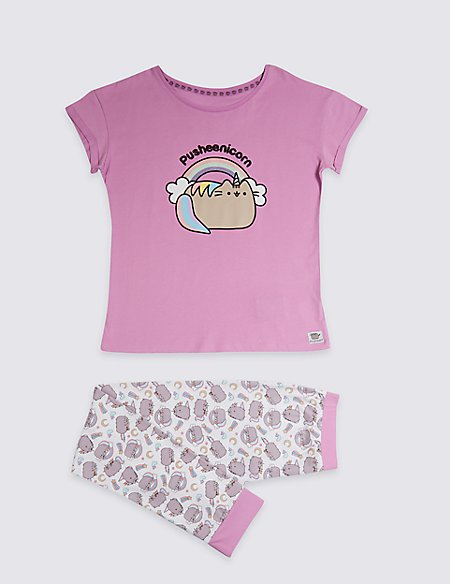 Pusheen™ Pure Cotton Pyjamas (9-16 Years)