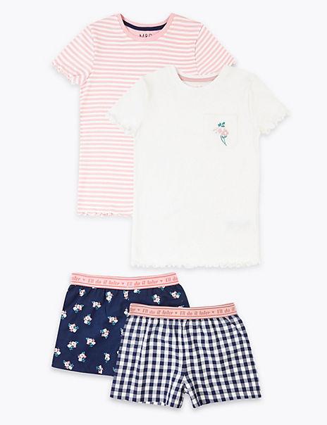 2 Pack Cotton Short Pyjama Sets (6-16 Years)
