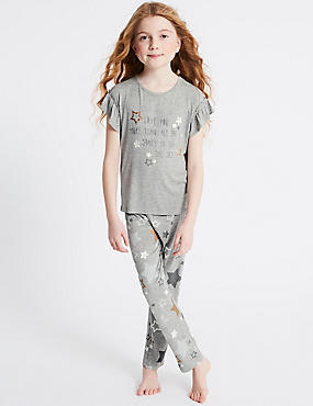 Star Print Pyjamas (3-16 Years)