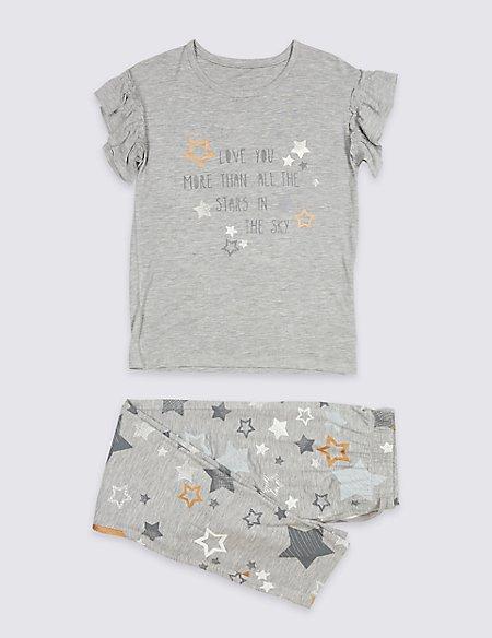 Star Print Pyjamas (3-16 Years)