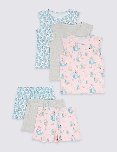 3 Pack Assorted Pyjamas (3-16 Years)