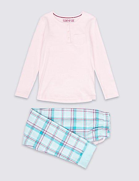 Cotton Rich Ribbed Pyjamas (6-16 Years)