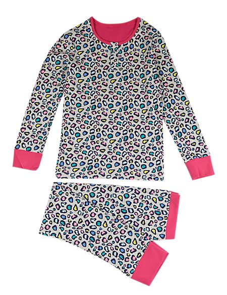 Pure Cotton Stay Soft Leopard Print Pyjamas (6-16 Years)