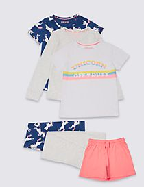 3 Pack Printed Pyjamas (3-16 Years)
