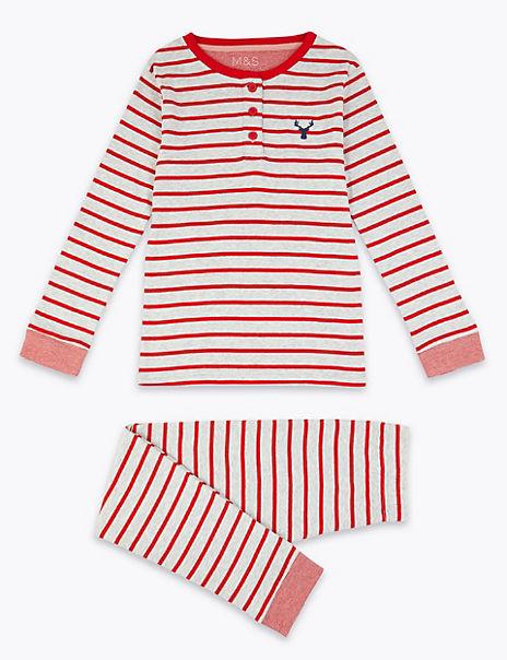Cotton Rich Striped Pyjama Set (1-16 Years)