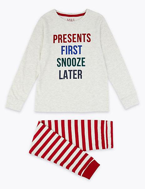 Presents First Slogan Pyjama Set (1-16 Years)
