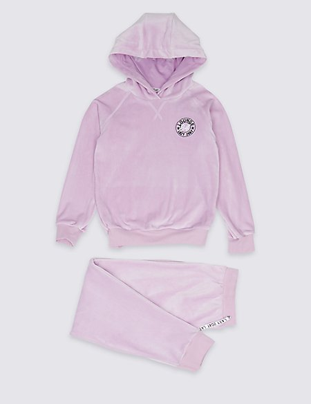 Hooded Lounge Marl Pyjamas (3-16 Years)