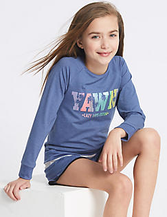T86/2339: 3 Piece Pyjamas with Vest (3-16 Years)