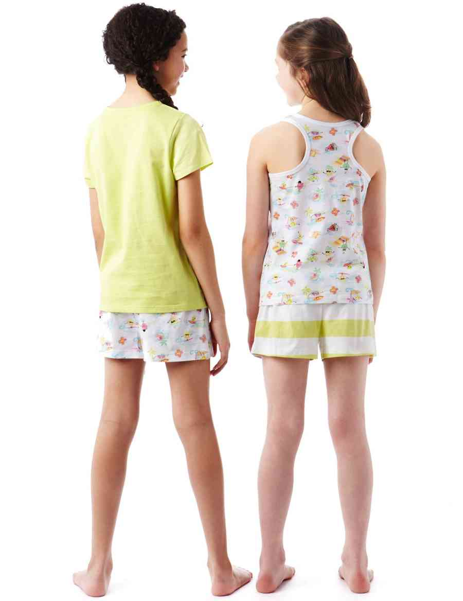 5e577a2e296 2 Pack Pure Cotton Surf Fruit Shortie Pyjamas | M&S