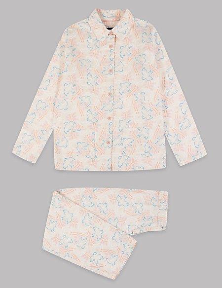 Pure Cotton Printed Pyjamas (1-16 Years)