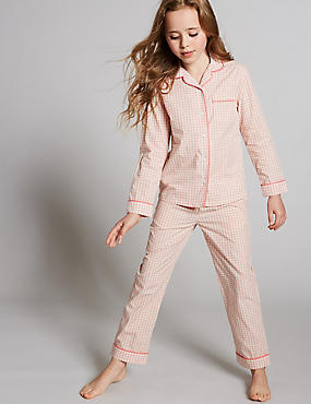 Pure Cotton Gingham Pyjamas (1-16 Years)