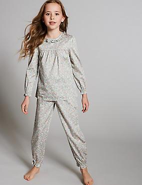Pure Cotton Flower Pyjama (1-16Years)
