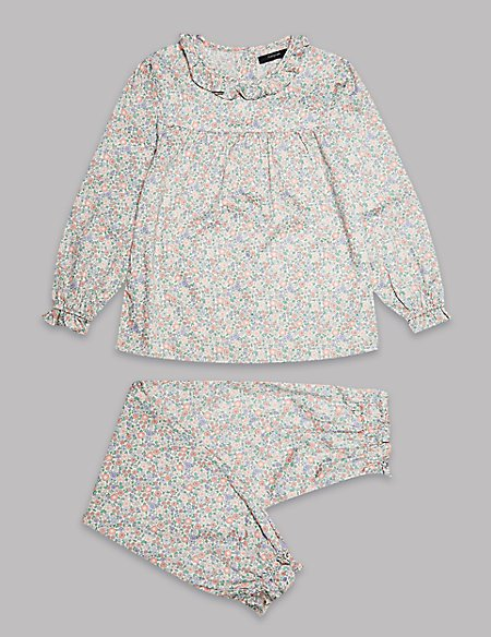 Pure Cotton Flower Pyjama (1-16Years)