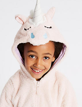 Unicorn Hooded Onesie (1-16 Years)