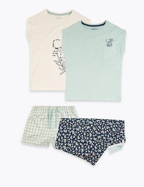 2 Pack Animal Print Pyjama Sets (6-16 Years)