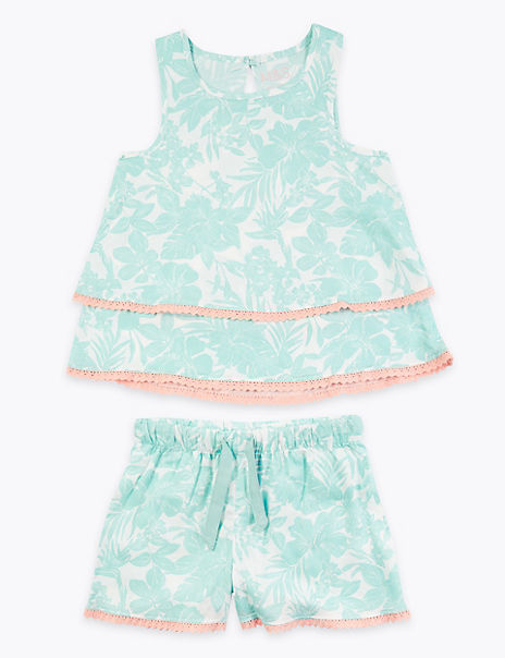 2 Piece Printed Short Pyjama Set (6-16 Years)