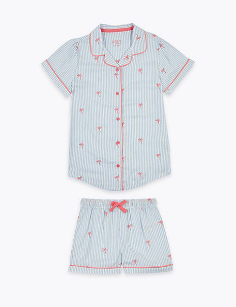Palm Tree Print Short Pyjama Set (6-16 Years)