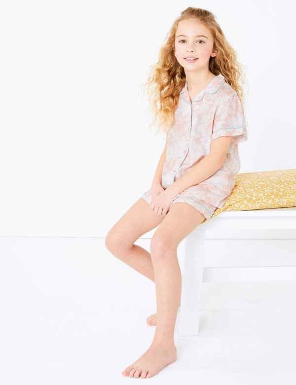 GIRLS UNICORN PYJAMAS PJS AGE 11-12 YEARS GIFT PRESENT VEST /& SHORTS SUMMER