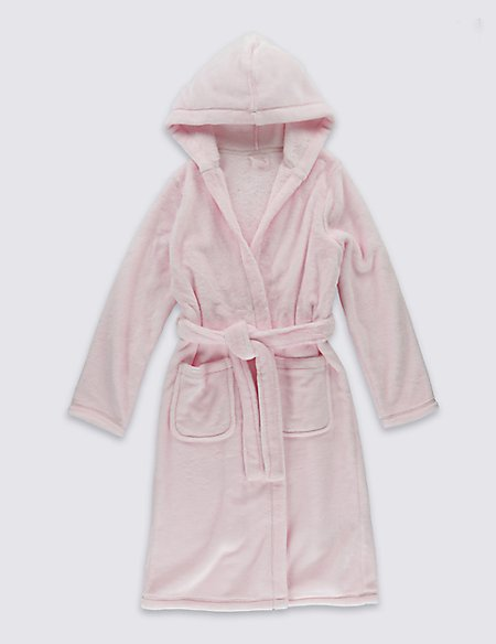 Hooded Dressing Gown with Belt (1-16 Years)