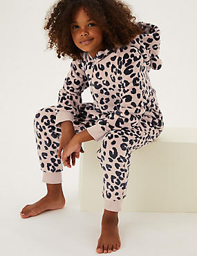 Fleece Leopard Onesie (6-16 Yrs)