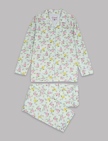 Pure Cotton Floral Print Pyjamas (1-16 Years)