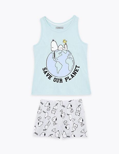 Cotton Rich Snoopy™ Short Pyjama Set (6-16 Years)