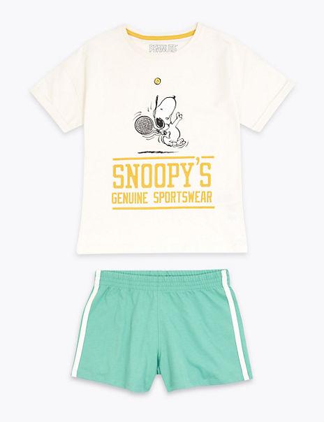 Cotton Snoopy™ Print Short Pyjama Set (6-16 Years)