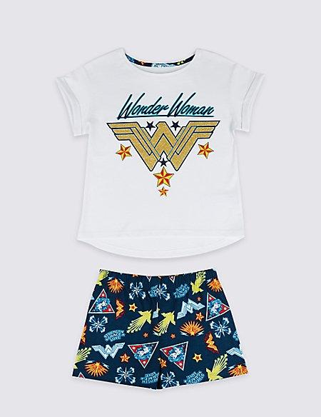 Wonder Woman™ Pure Cotton Short Pyjamas (5-14 Years)