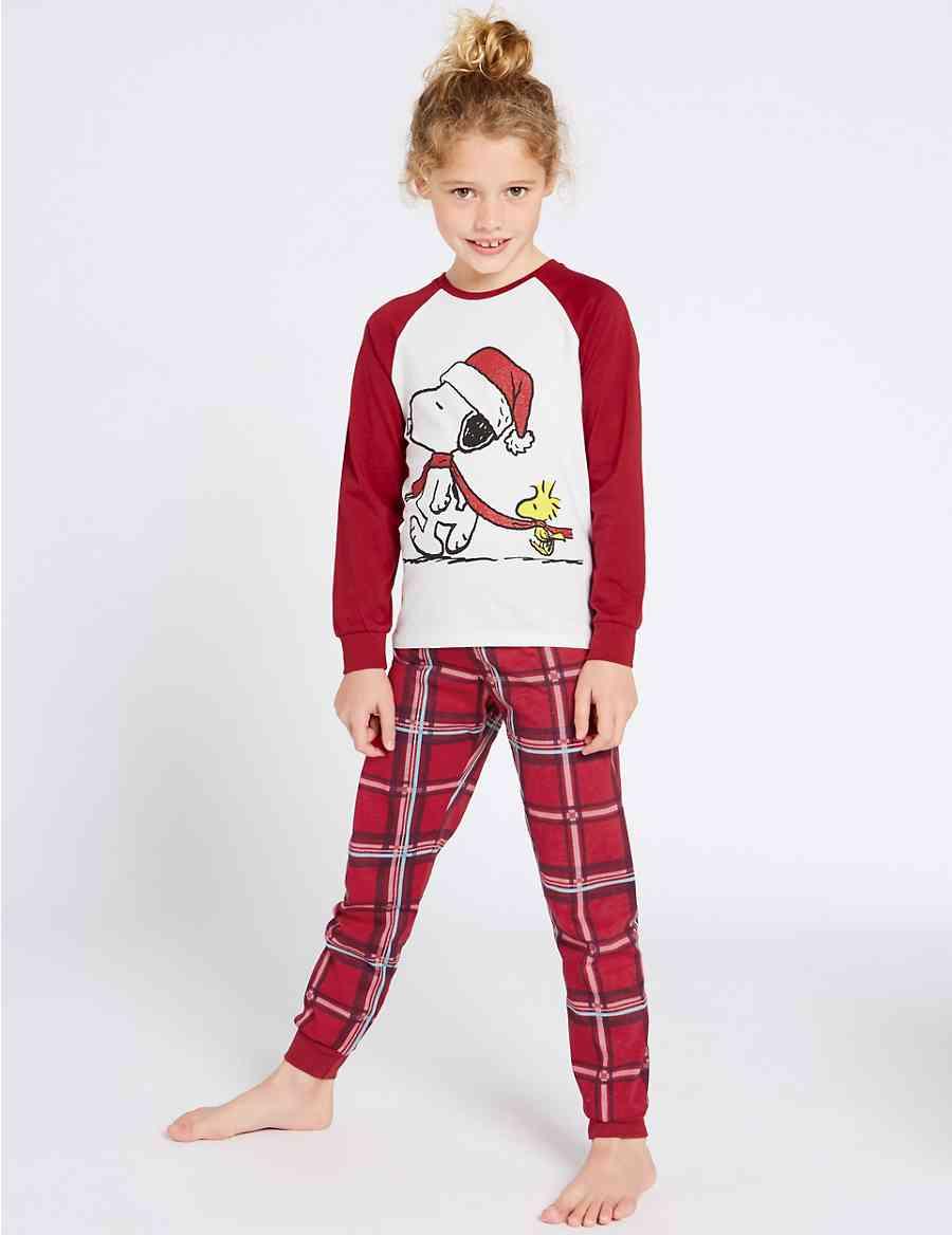 Snoopy trade  Checked Pyjamas (7-16 ... 12b30c370