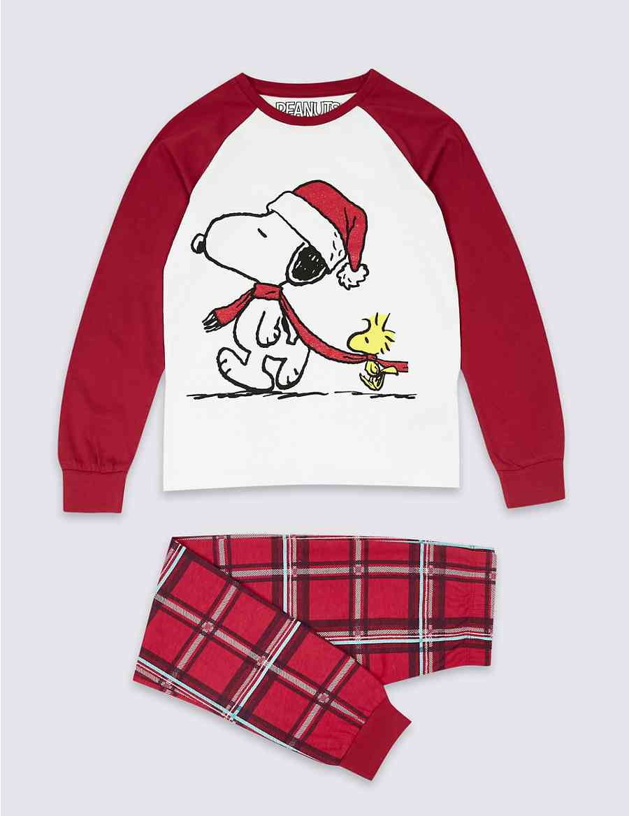 Snoopy™ Checked Pyjamas (7-16 Years)  72d3fd515