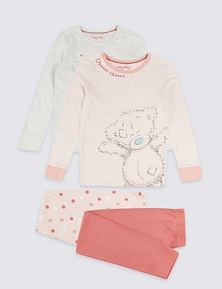 2 Pack Pure Cotton Pyjamas (3-16 Years)