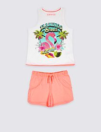 Flamingo Short Pyjamas (3-16 Years)