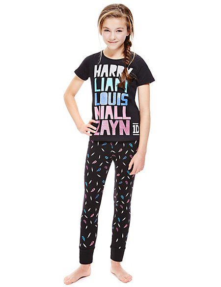 Cotton Rich One Direction Pyjamas (5-14 Years) | M&S