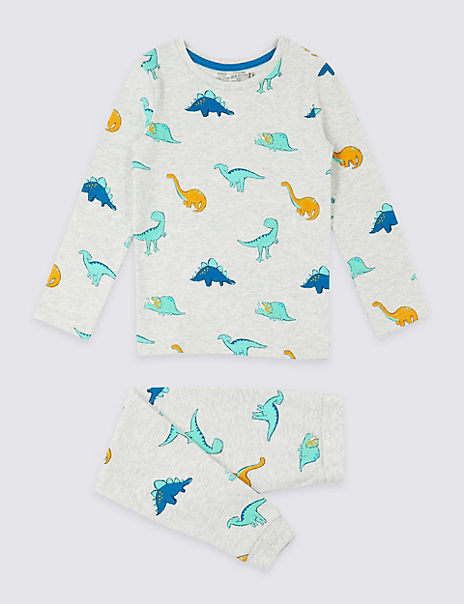 Dreamskin® Cotton with Stretch Dinosaur Pyjamas (1-7 Years)