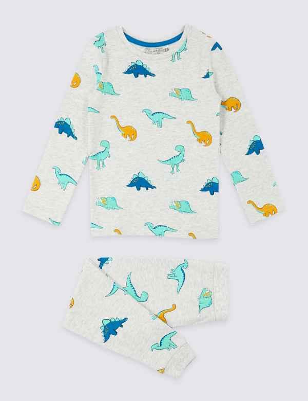209f3cde7dfee Dreamskin® Cotton with Stretch Dinosaur Pyjamas (1-7 Years). New