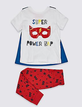 Pyjamas with Cape (1-7 Years), MULTI, catlanding