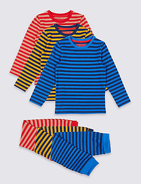 3 Pack Striped Pyjamas (1-7 Years)