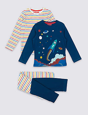 2 Pack Cotton Pyjamas (1-7 Years)