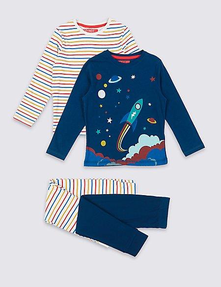2 Pack Cotton Pyjamas (1-7 Years)