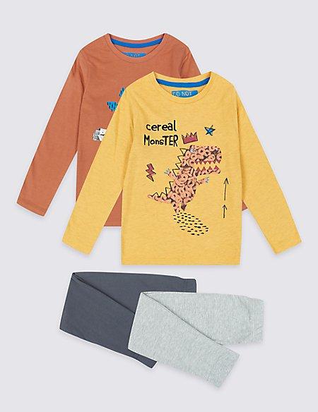 2 Pack Cereal Monster Pyjamas (1-7 Years)