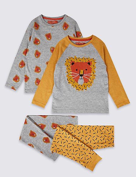 2 Pack Lion Pyjamas (1-7 Years)
