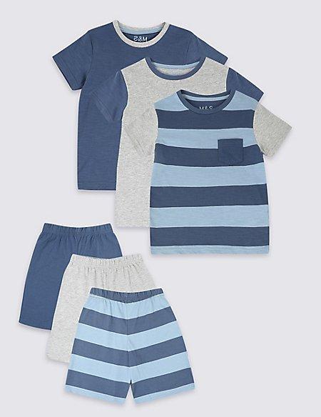 3 Pack Short Pyjamas (1-7 Years)