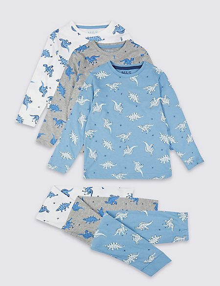 3 Pack All Over Print Pyjamas (1-7 Years)