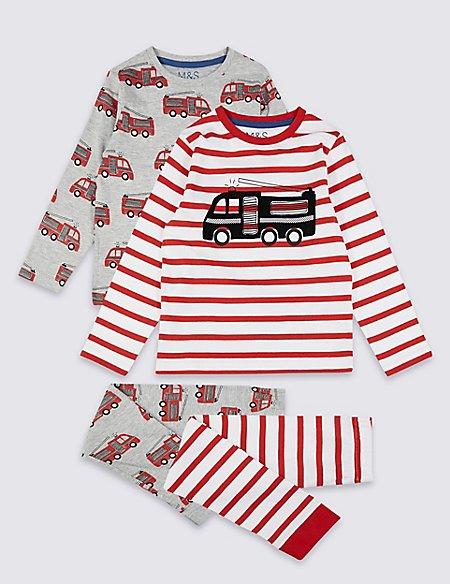 2 Pack Transport Pyjamas (1-7 Years)