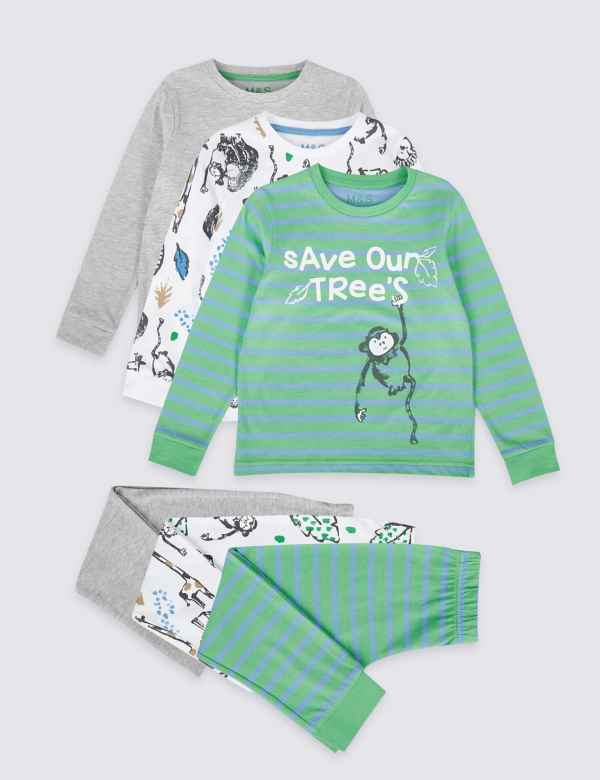 cf507290b3 Sparks. 3 Pack Cotton Rich Pyjamas (1-7 Years)