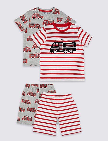 2 Pack Short Pyjamas (1-7 Years)